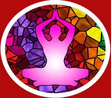 Fensterbild Yoga
