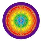 Blume des Lebens Aufkleber Chakra
