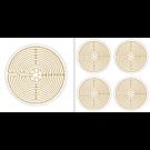 Labyrinth von Chartres - Aufkleber-Set klein