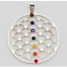 Blume des Lebens Chakra-Anhänger 925er Silber
