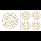 Merkaba Aufkleber-Set in Gold