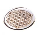 Kristallglas Untersetzer mit Blume des Lebens