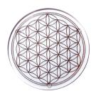 Kristallglas Untersetzer mit Lebensblume