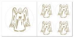 Engel Aufkleber Set