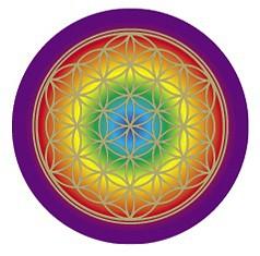 Blume des Lebens Chakra-Aufkleber