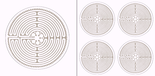 Labyrinth von Chartres Aufkleber-Set