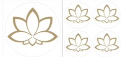 Lotusblüte Aufkleber Set