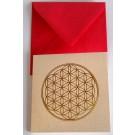Blume des Lebens Mini Geschenkkarte