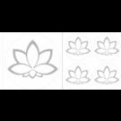 Lotusblume Aufkleber Set