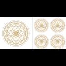 Sri Yantra Aufkleber-Set klein, gold