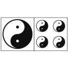 Aufkleber Set Yin Yang